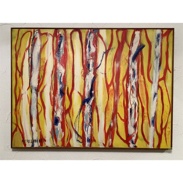 """MEREDITH - 1962 - ABSTRACT ART - OIL ON CANVAS -  41"""" X 54"""""""