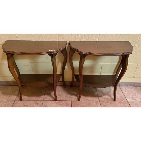 LOT OF 2 - HALF MOON TABLES
