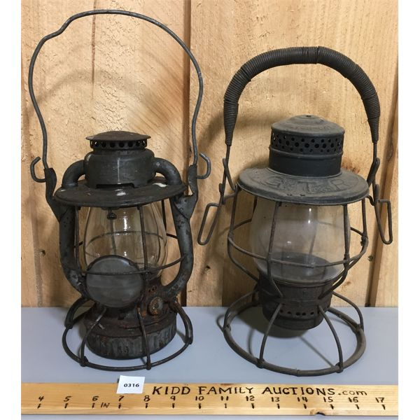 LOT OF 2 LANTERNS - GTR AND OTHER