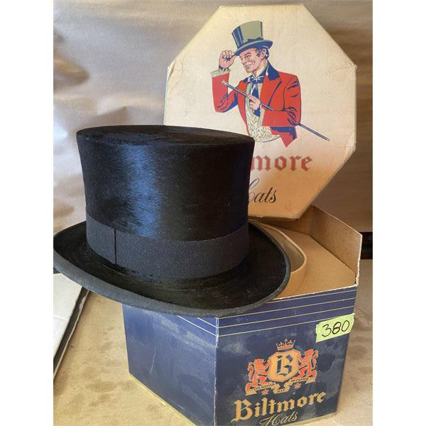 BILTMORE TOP HAT - EXCELLENT CONDITION - 8 INCHES