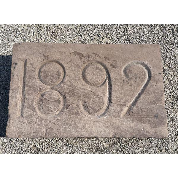 CIRCA STONE - 1892 - 16 X 26 X 4.5 INCHES