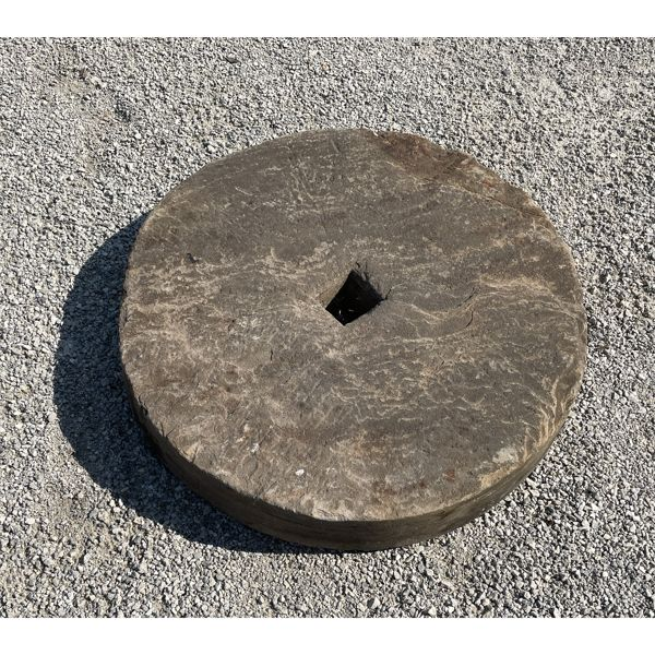 ANTIQUE MILL STONE 23.5 IN DIAMETER X 3.5 IN THICK