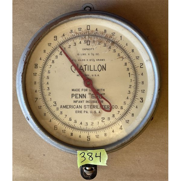 CHATILLON 8.5 INCH HANGING SCALE