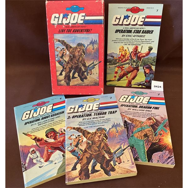 COLLECTION OF VINTAGE GI JOE BOOKS IN HANDY HARDCOVER CASE - BY GC MACRAE