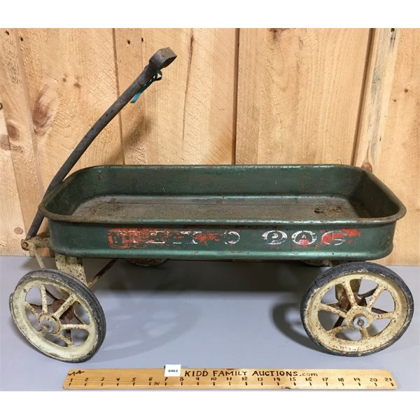 VINTAGE CHILDS TIN WAGON - TREX PAL - 26 INCHES