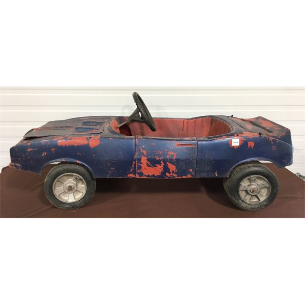 PLASTIC PEDAL CAR - 43 INCHES LONG