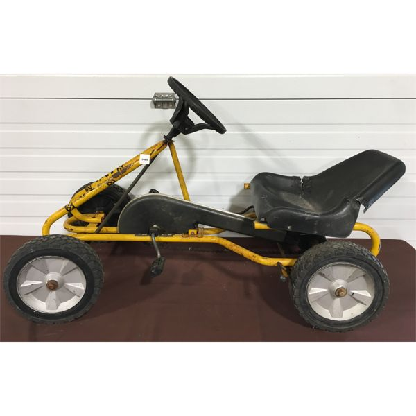 PUKY PEDAL CART - GO-CART STYLE - CHAIN DRIVEN - APPROX 34 INCHES