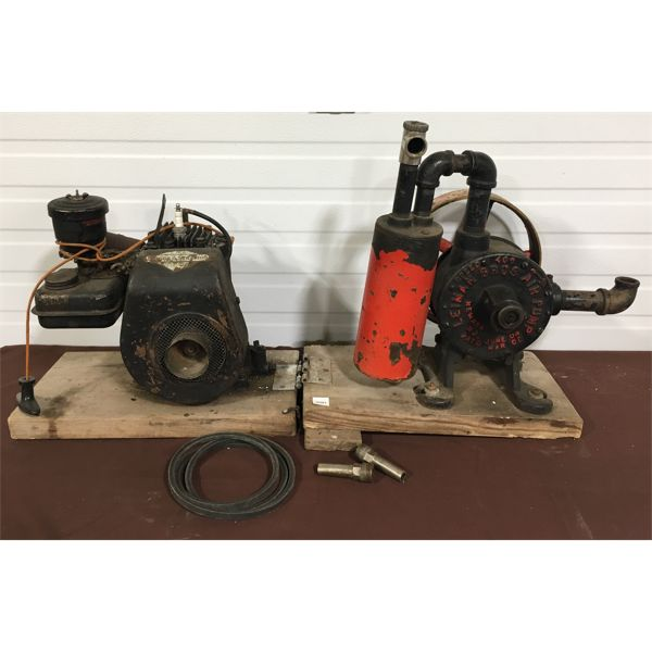 MOTOR DRIVEN AIR PUMP USED TO VENTILATE A MINE SHAFT - UNUSUAL FIND