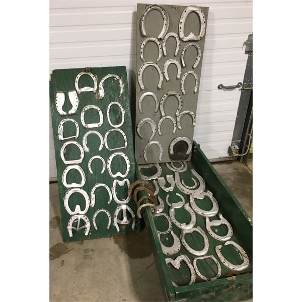 QTY OF HORSESHOES IN DISPLAY