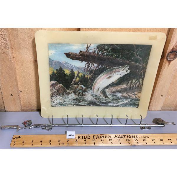 FISHING DECOR - TRAY & KEY HOOK