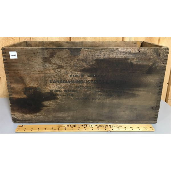 CIL DYNAMITE CRATE - 9.5 X 23 INCHES