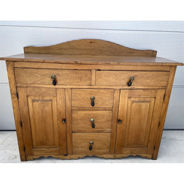 ANTIQUE CANADIANA SIDEBOARD/BUFFET