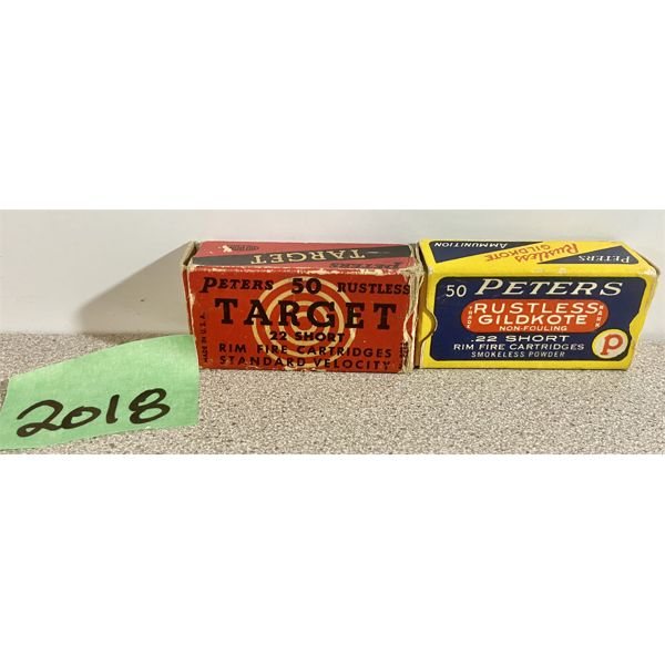 AMMO: 100X PETERS 22 SHORT