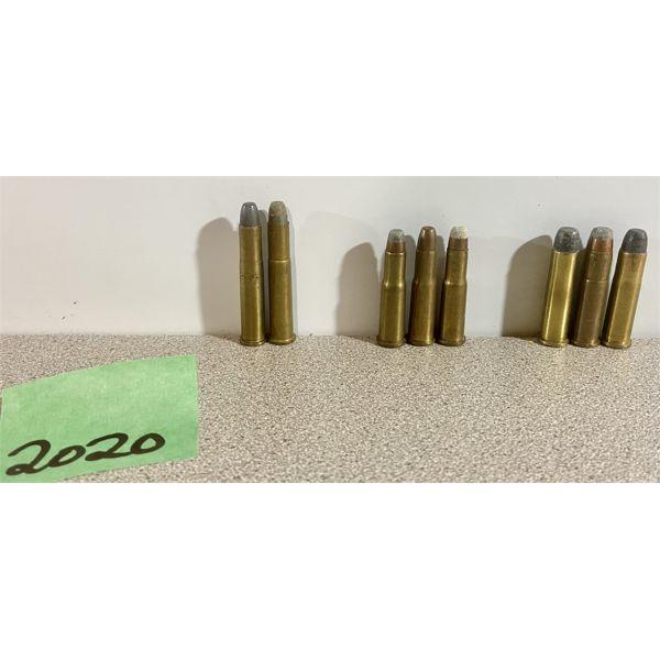 AMMO: 2X 25-20 STEVENS, 3X 25-20 WCF, 3X 32-20 WCF