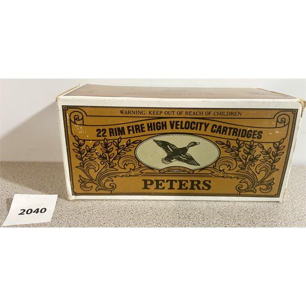 AMMO: 500X PETERS 22 LR