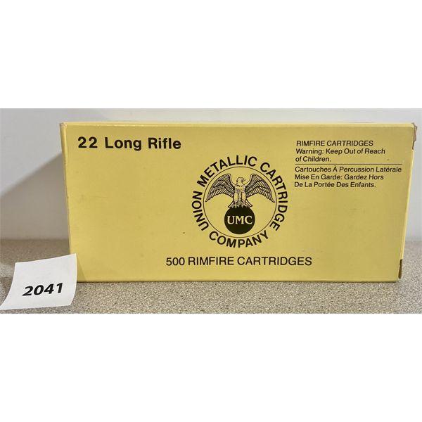 AMMO: 500X REMINGTON-UMC 22 LR