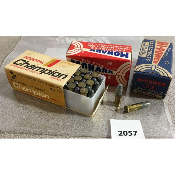 150 X FEDERAL / MONARK / HI-POWER .22 L - COLLECTIBLE BOXES