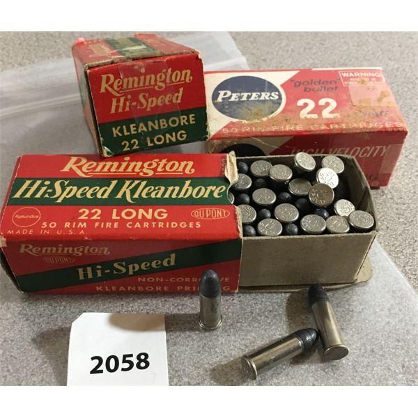 150 X PETERS / REMINGTON .22 L - COLLECTIBLE BOXES