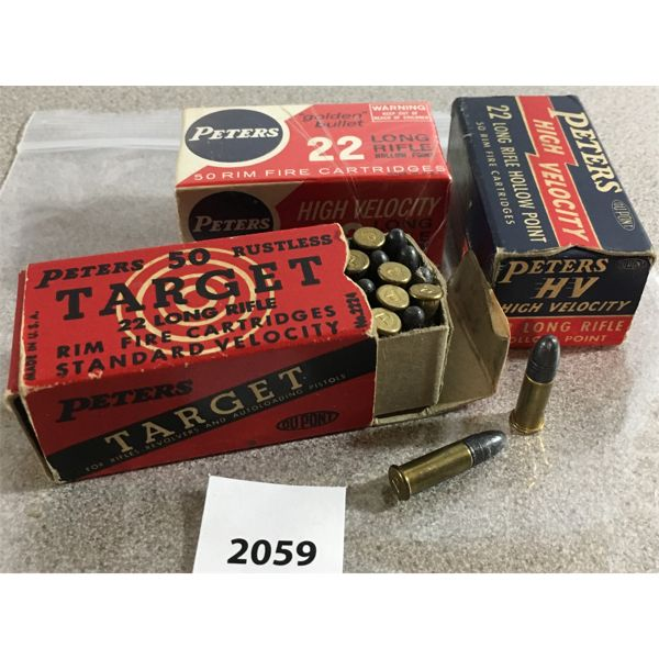 150 X PETERS .22 L RIM FIRE - COLLECTIBLE BOXES
