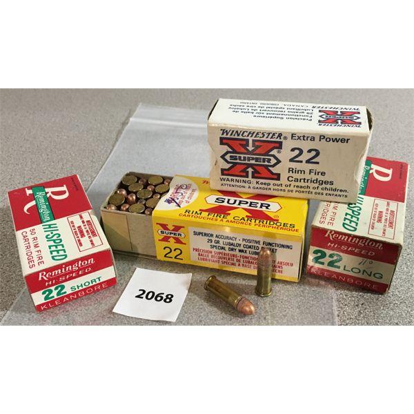 200 X WINCHESTER / REMINGTON .22 L & S - COLLECTIBLE BOXES