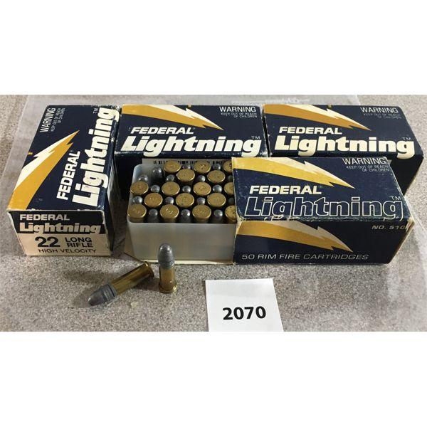 200 X FEDERAL LIGHTNING .22LR