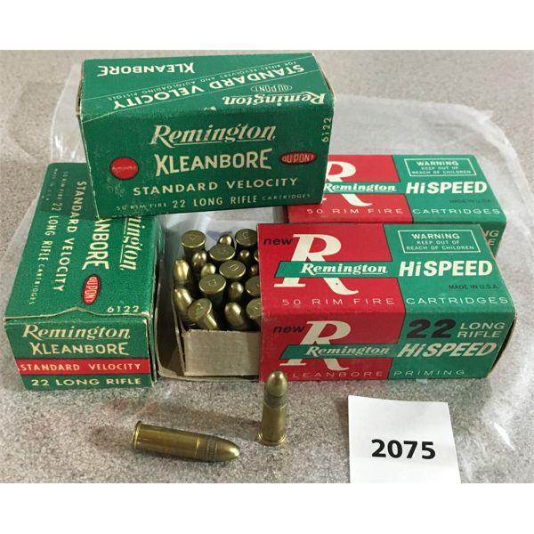 200 X REMINGTON KLEANBORE .22 LR - COLLECTIBLE BOXES