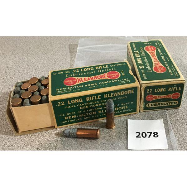 100 X REMINGTON KLEANBORE .22 LR - COLLECTIBLE BOXES