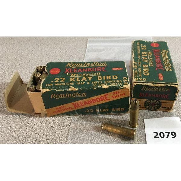 100 X REMINGTON KLEANBORE .22 KLAY BIRD - COLLECTIBLE BOXES