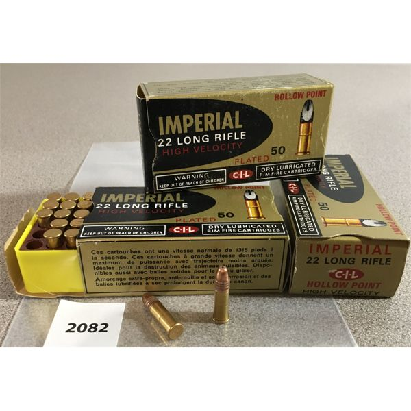 150 X IMPERIAL .22 LR HOLLOW POINT