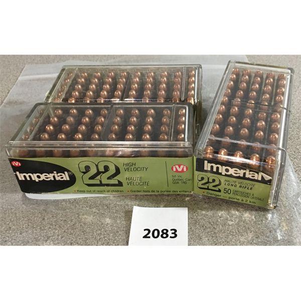 150 X IMPERIAL .22 LR - SEALED BOX