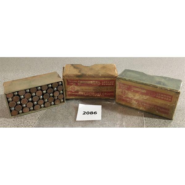 100 X DOMINION .22 LR LESWOK - COLLECTIBLE BOXES