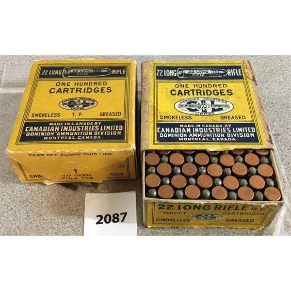 200 X CIL .22 LR - COLLECTIBLE BOXES