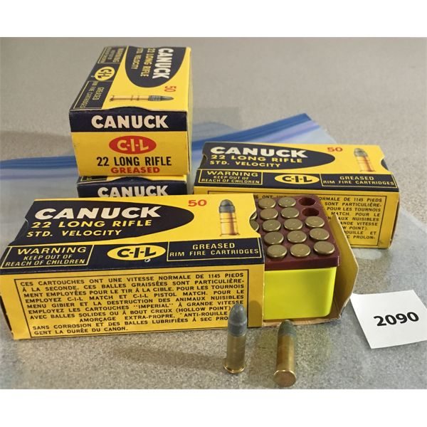 200 X CIL CANUCK .22 LR - COLLECTIBLE BOXES