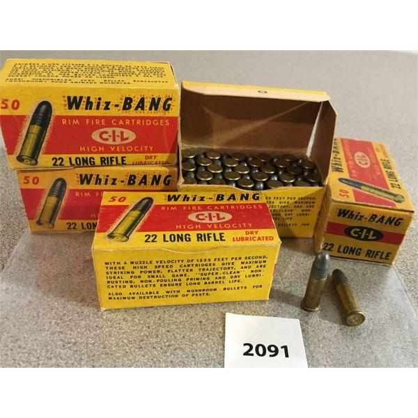 250 X CIL WHIZ-BANG .22 LR - COLLECTIBLE BOXES