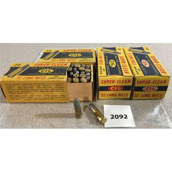 200 X CIL SUPER-CLEAN .22 LR - COLLECTIBLE BOXES
