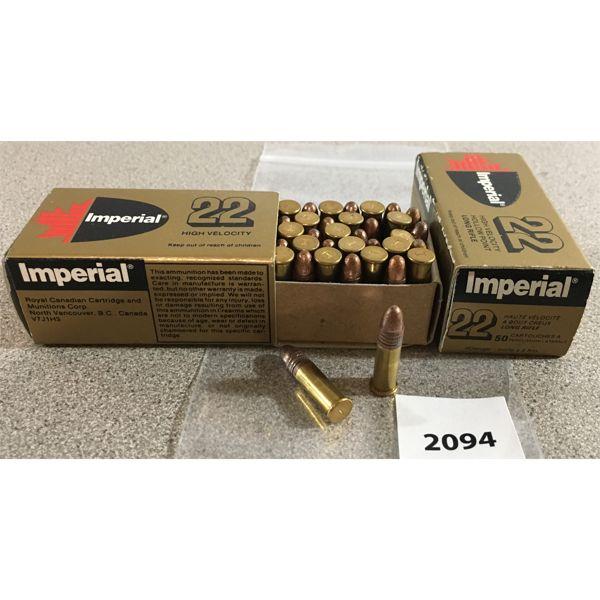 100 X IMPERIAL .22 LR