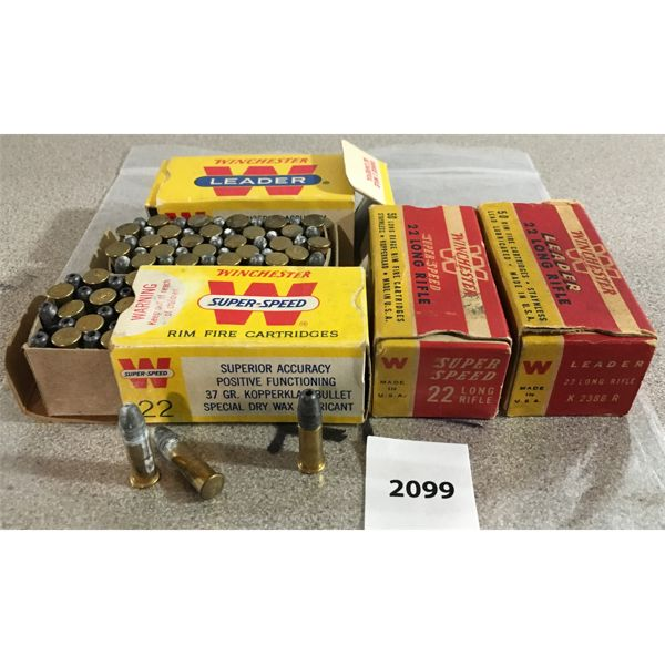 200 X WINCHESTER .22 LR RIM FIRE - COLLECTIBLE BOXES