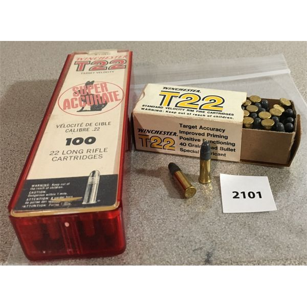 150 X WINCHESTER T22 .22 LR - SEALED
