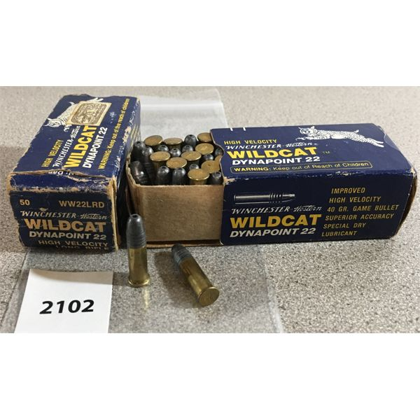 100 X WINCHESTER WILDCAT DYNAPOINT .22 LR