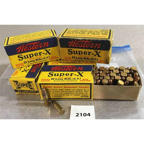 250 X WESTERN SUPERX .22 LR HOLLOW POINT - COLLECTIBLE BOXES