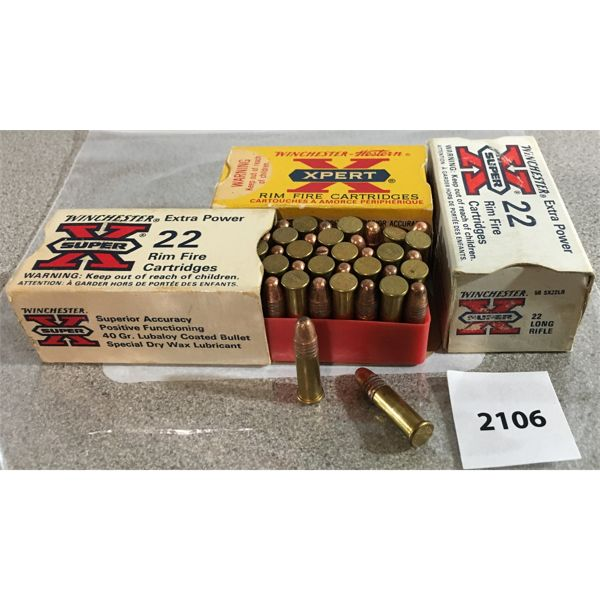 150 X WESTERN SUPER X / XPERT .22 RIM FIRE - COLLECTIBLE BOXES