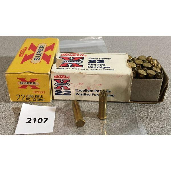 100 X WESTERN SUPER X / XPERT .22 LR SHOT