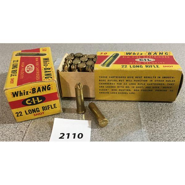 100 X CIL WHIZ BANG .22 LR SHOT SHELLS - COLLECTIBLE BOXES