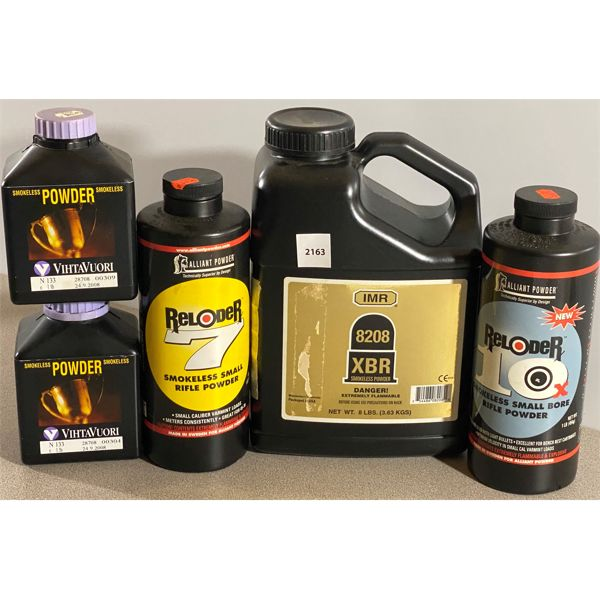 QTY OF SMOKELESS POWDER - NONE ARE FULL