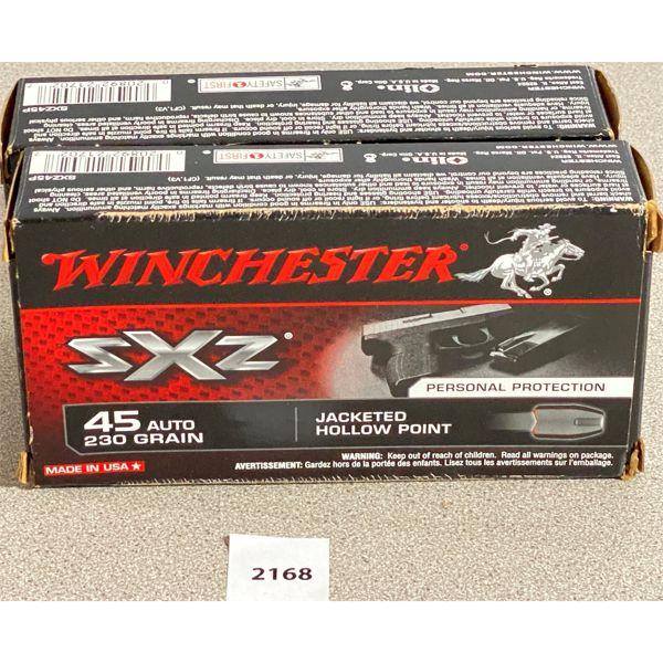 100 X WINCHESTER .45 AUTO 230 GR