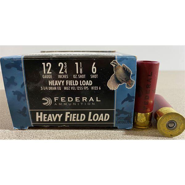 "25 X FEDERAL 12 GA 2 3/4"" 6 SHOT"