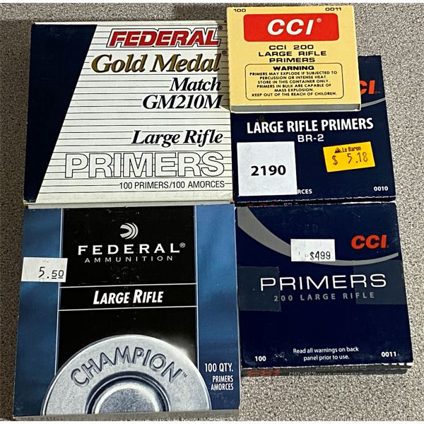 PRIMERS: 700 X FEDERAL / CCI LARGE RIFLE