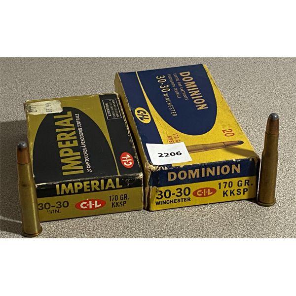 40 X IMPERIAL / DOMINION .30-30 170 GR