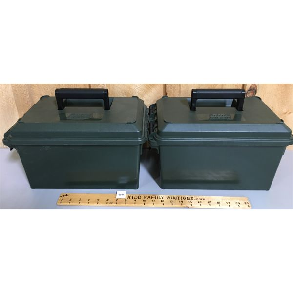 LOT OF 2 - PLASTIC AMMO CASES