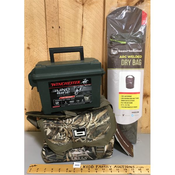 LOT OF 3 - BANDED BLIND BAG & DRY BAG & WINCHESTER AMMO BOX - AS NEW